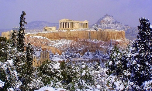 GREECE IN WINTER